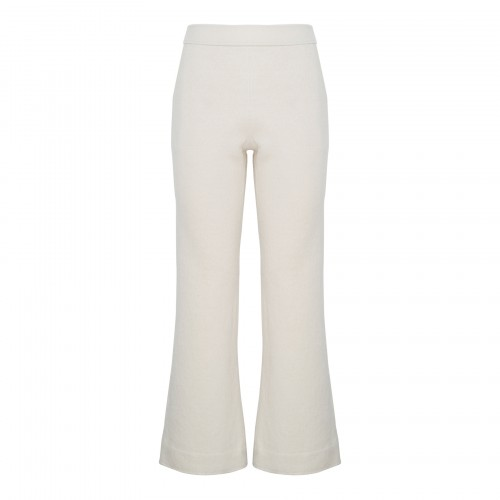 Ivory cropped flared pants