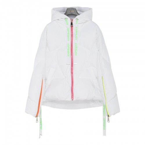 Puff Khris Iconic neon-trimmed down jacket