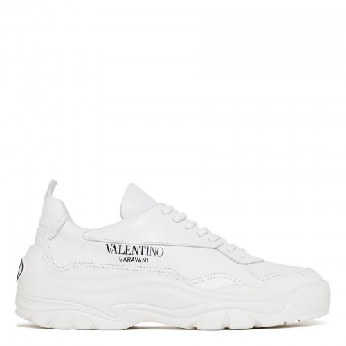 Gumboy white leather sneakers