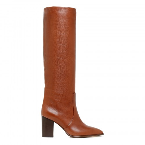 Sienna tan leather boots