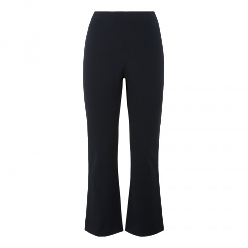 Black cropped and flared pants