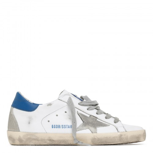 Superstar white and blue sneakers