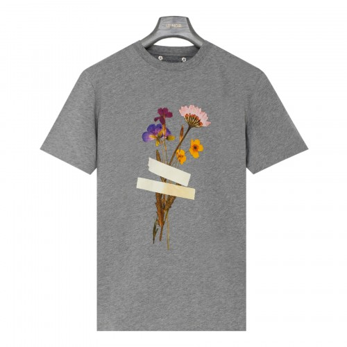 Taped floral print T-shirt