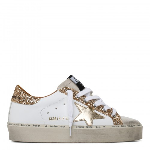 Hi Star leather and glitter sneakers