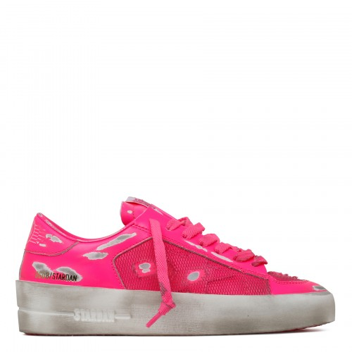 Stardan leather and net sneakers