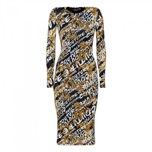 Oversize space dye shirt dress