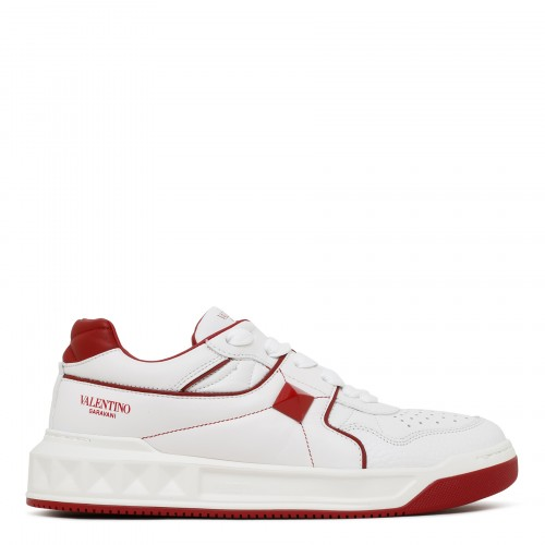One Stud white and red sneakers