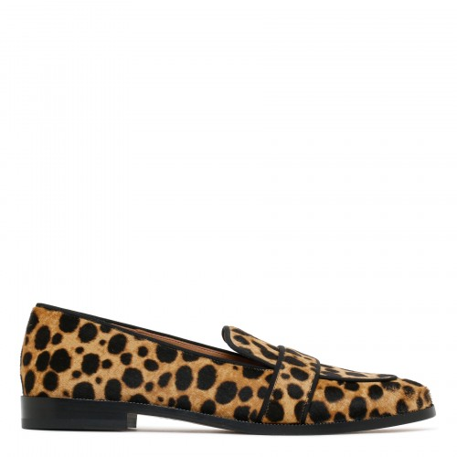 Martin leopard haircalf loafers