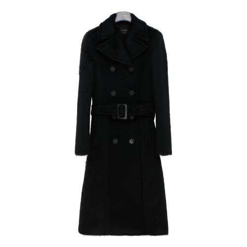 Laurenh black double breasted coat