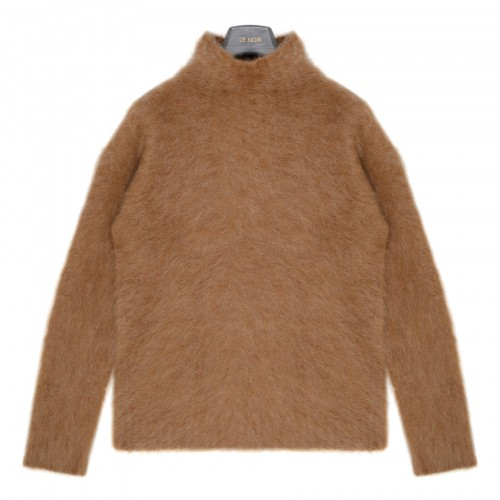 Alca camel-hue wool and mohair sweater