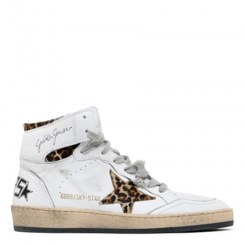 Sky Star sneakers with leopard horsey star