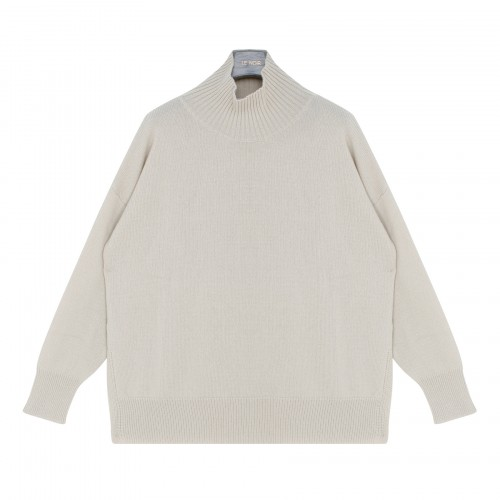 Ivory wool and cashmere blend sweater