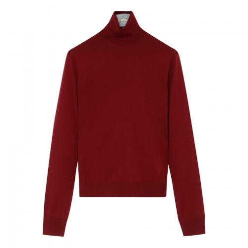 Cranberry red wool sweater