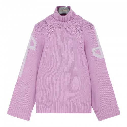 Double collar lilac sweater