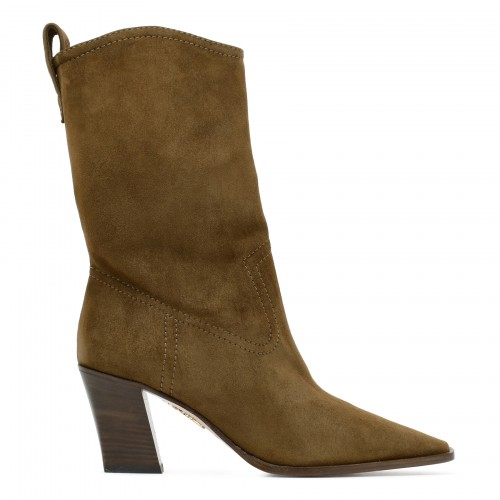 Dolly 70 green suede boots