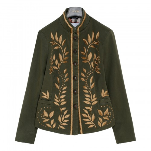 Embroidered green jacket