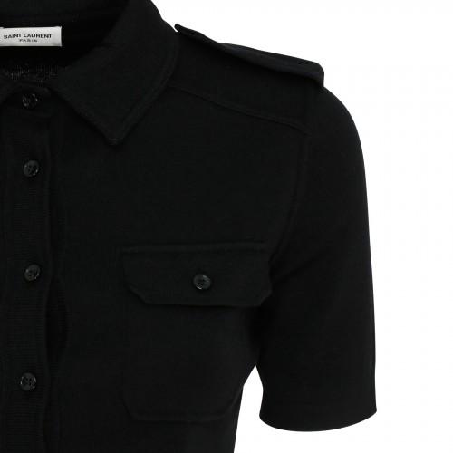 web stripe wool coat