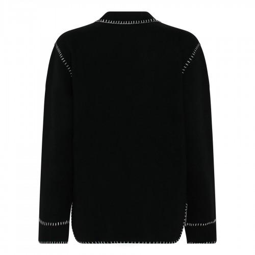 Bandana jacquard cashmere cardigan