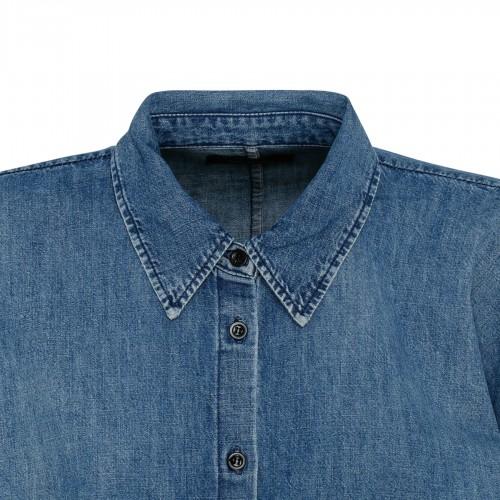 High waist plissé effect skirt