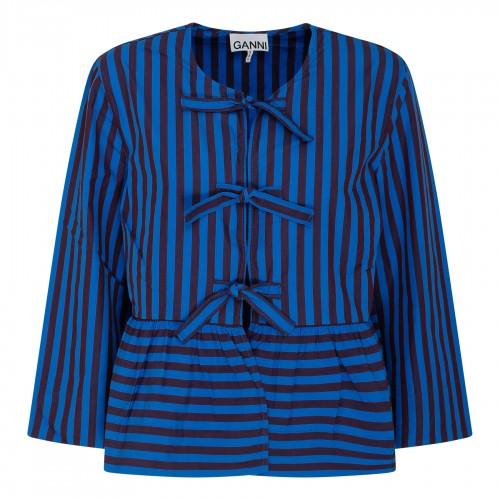 Pattern long sleeveless dress