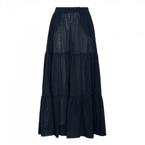 High waist floral motif shorts