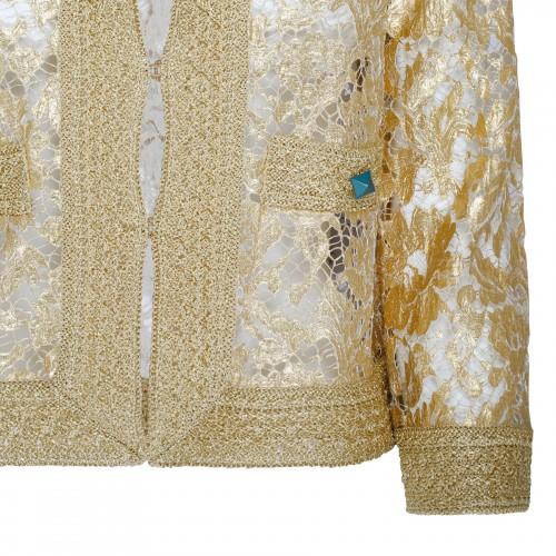 V logo pink pleated skirt