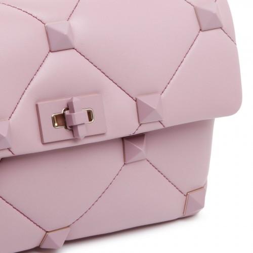 Striped georgette maxi skirt