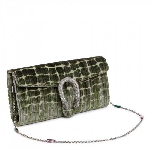 1955 Horsebit white shoulder bag