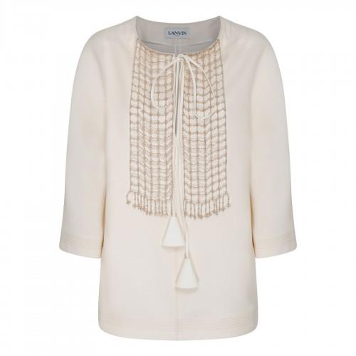Multicolor floral crepe de chine skirt