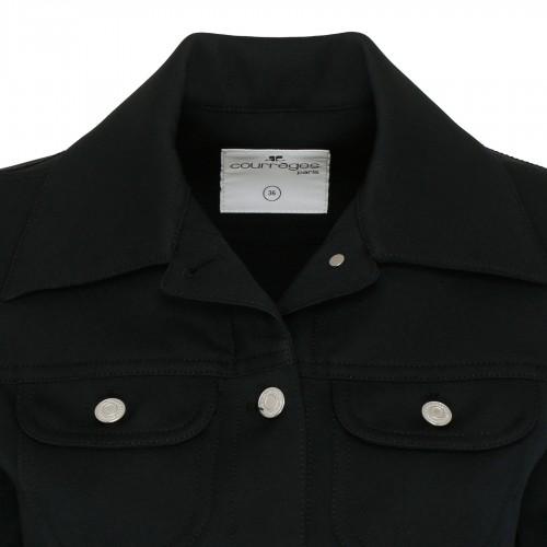 Rive Gauche black linen tote bag