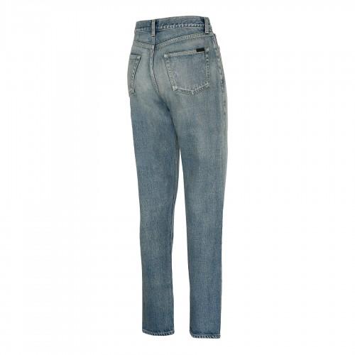 Blue denim and tweed mini skirt