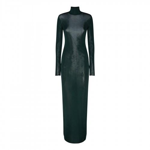 Blue chambray skirt