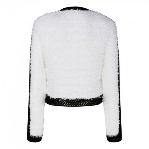 Long printed dress.