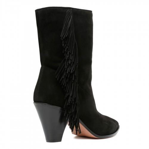 Long chiffon printed dress
